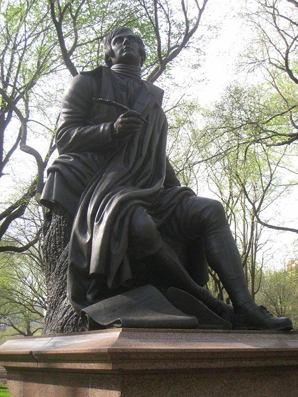 Robert Burns central park, New york statue