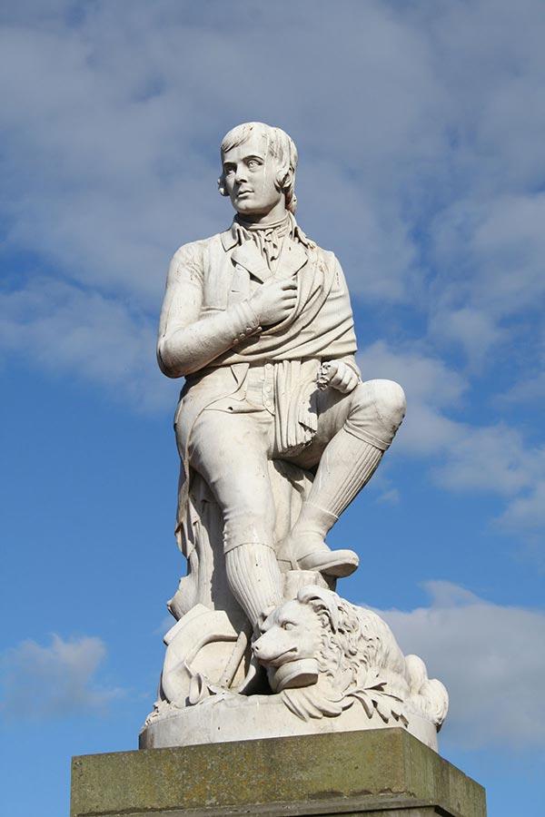 Robert Burns statue, Dumfries town centre, Scotland