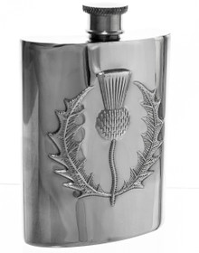 Thistle Flask -  Polished - 4.5""