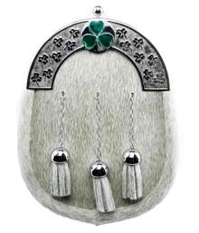 Ivory Formal Dress Sporran - Irish Shamrock