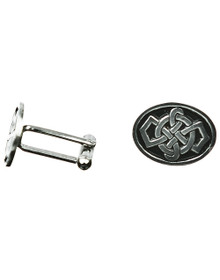 Celtic Knotwork Cuff Links - Oval - KCL2