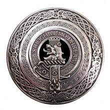 Clan Crest Belt Buckle - Round (Made by Gaelic Themes)