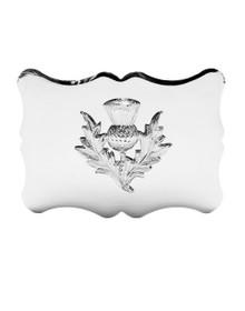 Traditional Thistle Kilt Belt Buckle - Chrome