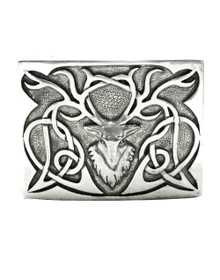 Stag Zoomorphic Belt Buckle - Polished