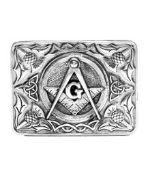 Masonic & Thistle Belt Buckle
