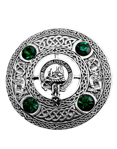 Campbell Clan Centered on fly plaid brooch