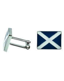 Scottish Flag Cuff Links - St. Andrew's with Enamel