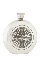 Celtic Knot Pewter Flask  -  FL34