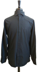 Black Tuxedo Shirt no Pleats