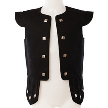 "Child 20"" Black Highland Jacobite Chieftain Vest"
