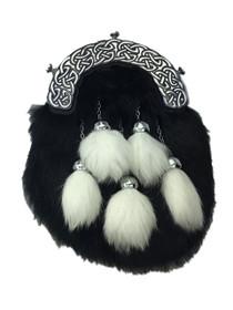 Black and White Rabbit Formal Dress Sporran