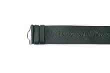 Kilt Belt - Thistle Embossed Velcro Adjustable
