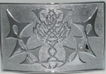 Highland Thistle Kilt Belt Buckle - GMB10CP