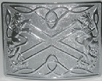 Highland Saltire Belt Buckle - Polished