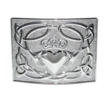 Irish Claddagh Kilt Belt Buckle - Polished - GMB27CP