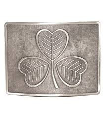 Shamrock Kilt Belt Buckle - Antique