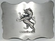 Traditional Lion Kilt Belt Buckle - Antique