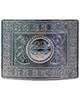 Highland Serpent Kilt Belt Buckle - Polished - GMB09CP