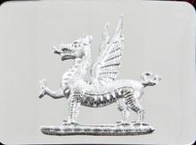 Welsh Dragon Kilt Belt Buckle - Chrome