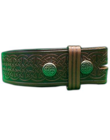 Celtic Leather Belt - Dark Brown Image
