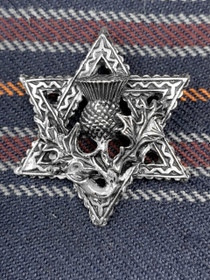 Small Star Pin with Thistle Center image