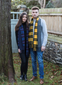 Lambswool Scarf ABSC couple wearing image