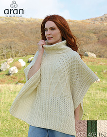 Irish Cowl Neck Cape - A453