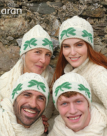 Merino Wool Shamrock Beanie - A754