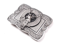 Clan Crest Belt Buckle - Celtic Knot (made by Gaelic Themes)