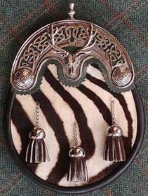 Celtic Stag Zebra Sporran