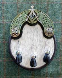 Masonic White Nguni Sporran