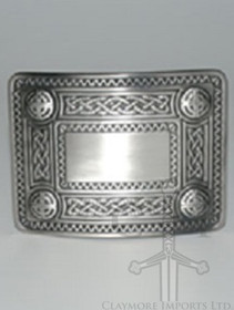 GMB87AS Celtic Knot Buckle Antique