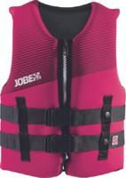 Jobe Neoprene Life Jacket Youth 50-90 lbs Pink