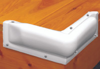 "Bumper - Taylor Made -10"" Corner White"