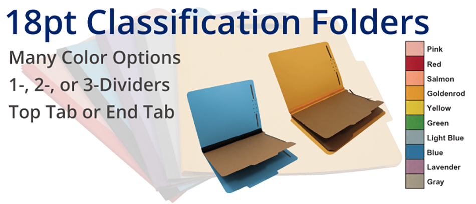 18pt Classification Folders