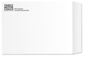 "10"" x 13"" Printed Tyvek Envelopes - Black Ink"