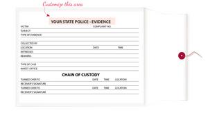 """10"""" X 13"""" X 2"""" Chain of Evidence Tyvek Envelopes"""