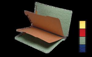 Brown Green 20pt. Pressboard Partition Folders