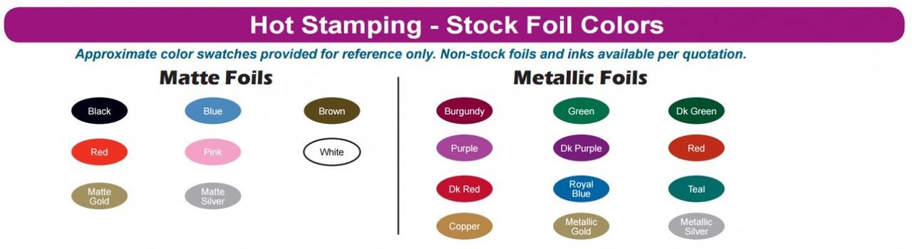 Hot Stamp / Foil Colors
