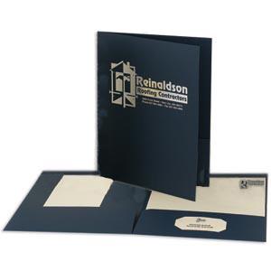 Letter Size Foil Stamped Folders