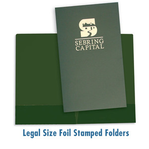 Legal Size Foil Stamped Presentation Folders