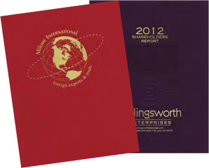 Foil Stamped Report Covers