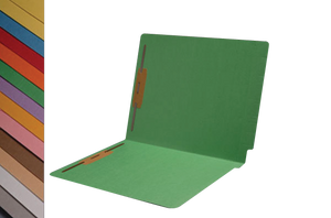 Colored File Folders - End Tab - With Fasteners