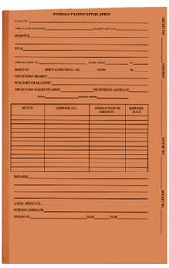 Orange Foreign Patent- No Tab - Drawer Filing,  no fasteners