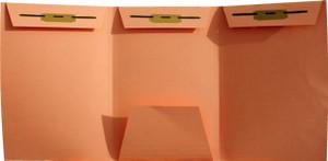 Orange Foreign Patent- No Tab - Drawer Filing, 3 Fasteners