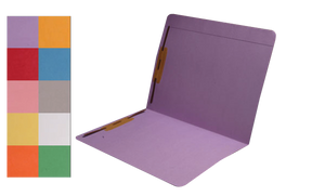 Colored File Folders - Top Tab - With Fasteners