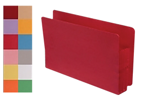 Custom Color File Pockets - End Tab