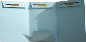 Lt. Blue Domestic Trademark- No Tab - Drawer Filing, 3 Fasteners