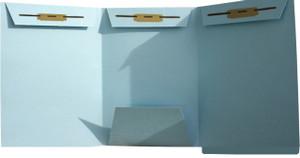 Lt. Blue Domestic Trademark- End Tab - Shelf Filing, 3 Fasteners