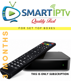 SMARTIPTV  For MAG (3 Months Subscription)